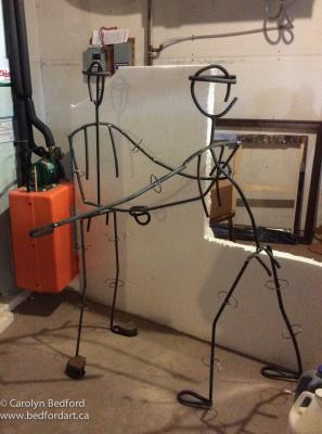 armature, metal,sculpture