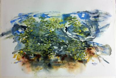 watercolour, painting, plein air,