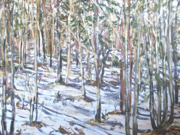 """Spring Thaw"", painting in acrylic"