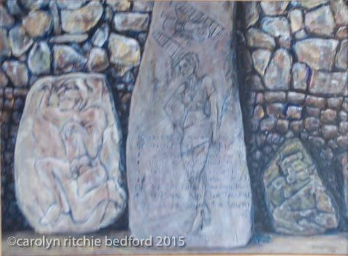 stones, writings, scenery, painting, history